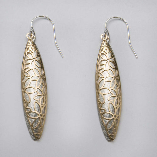 Takobia Open Cut Flower Drop Earrings