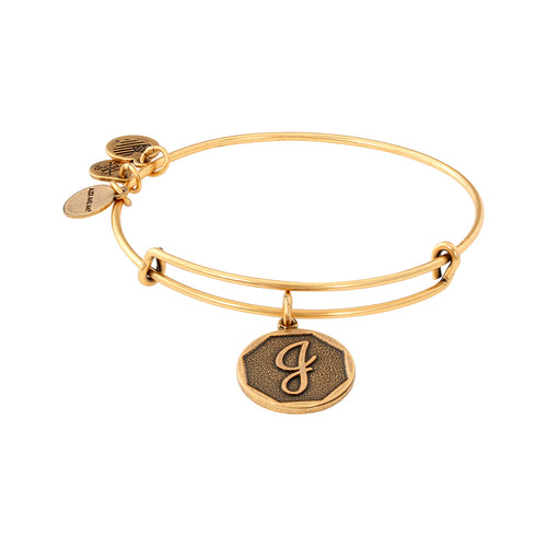 Alex and Ani Initial J Bangle Gold