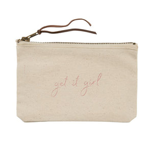 Get It Girl Pazitive Canvas Pouch