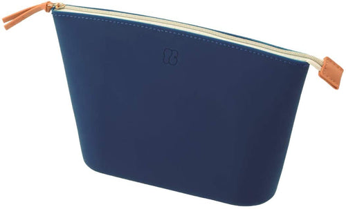Lihit Lab Bloomin Soft Silicone Zippered Pouch Large - Navy