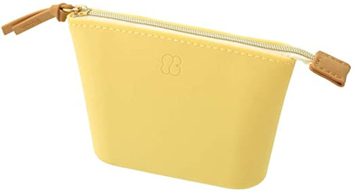 Lihit Lab Bloomin Soft Silicone Zippered Pouch Large - Lemon Yellow