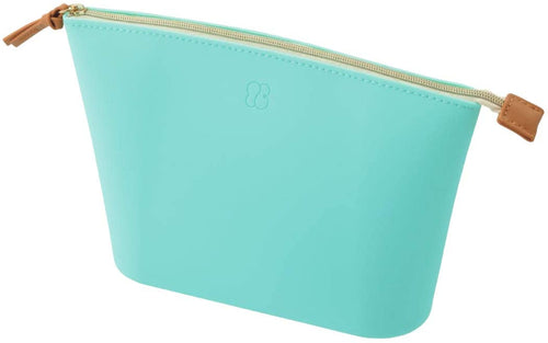 Lihit Lab Bloomin Soft Silicone Zippered Pouch Large - Mint Green