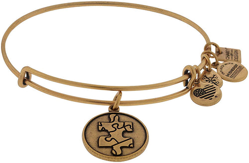 Piece of The Puzzle National Autism Association Rafaelian Gold Bangle Bracelet