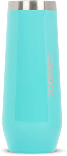 Corkcicle Turquoise Dust 7oz Stemless Flute