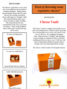 Cheese vault description