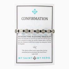 Load image into Gallery viewer, Confirmation Blessing Bracelet - Silver Medals