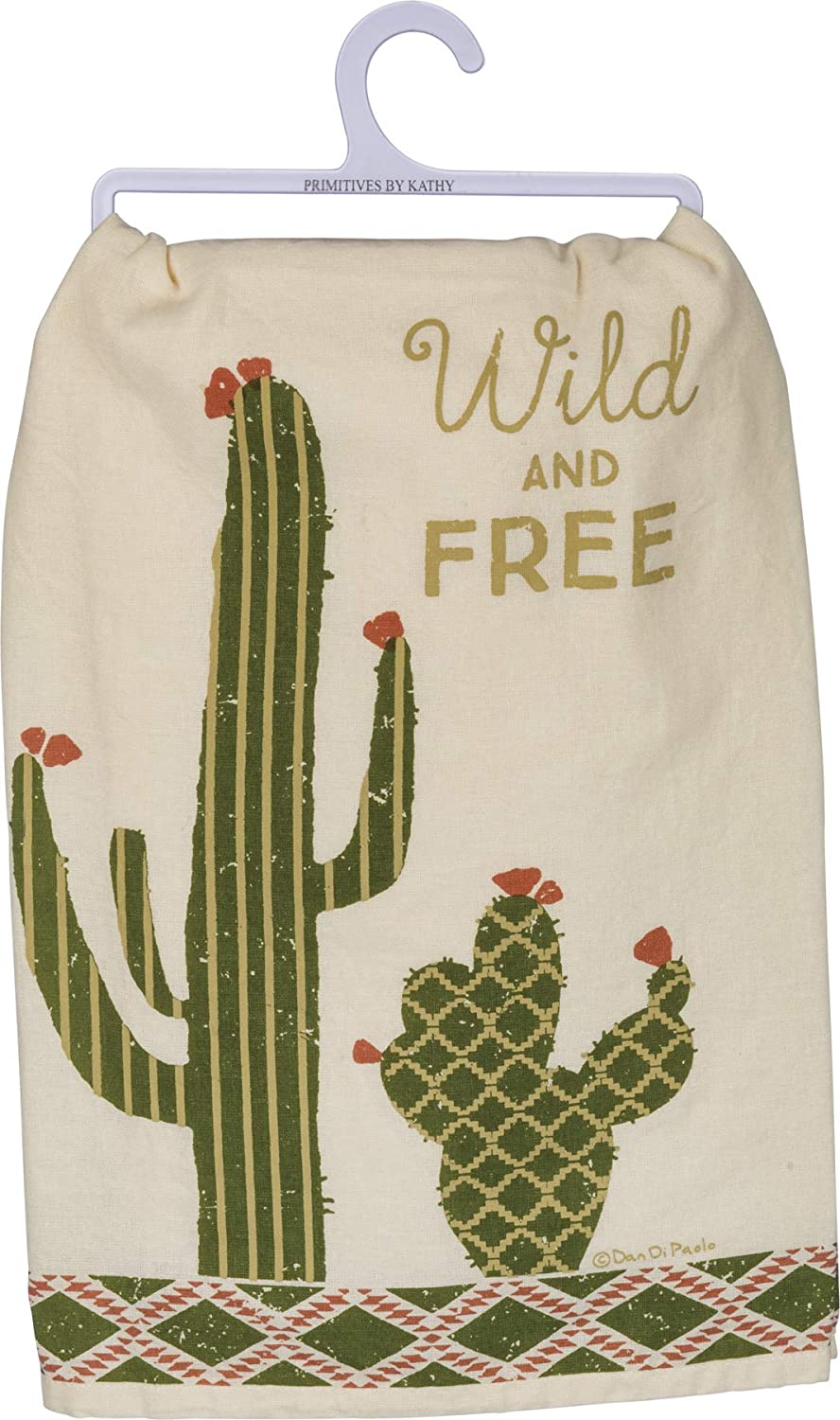 Wild and Free Cactus - Dish Towel
