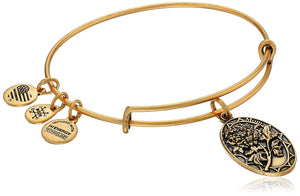 Alex and Ani Because I Love You Mom II Bangle Gold