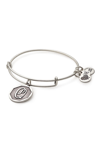 Alex and Ani Initial Q Bangle Silver