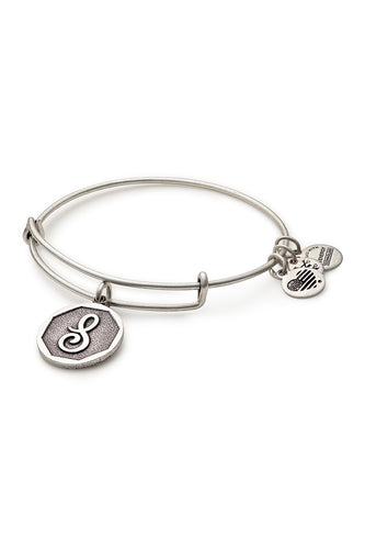Alex and Ani Initial S Bangle Silver