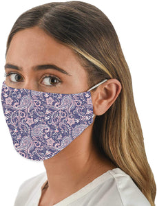 Purple Paisley Fashion Face Covering with 4 Filters
