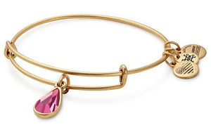 Alex and Ani - October Rose Birthstone Teardrop Charm Bangle With Swarovski® Crystals Rafaelian Gold