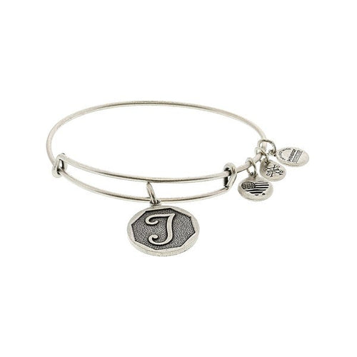 Alex and Ani Initial T Bangle Silver