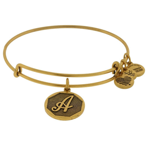 Alex and Ani Initial A Bangle Gold