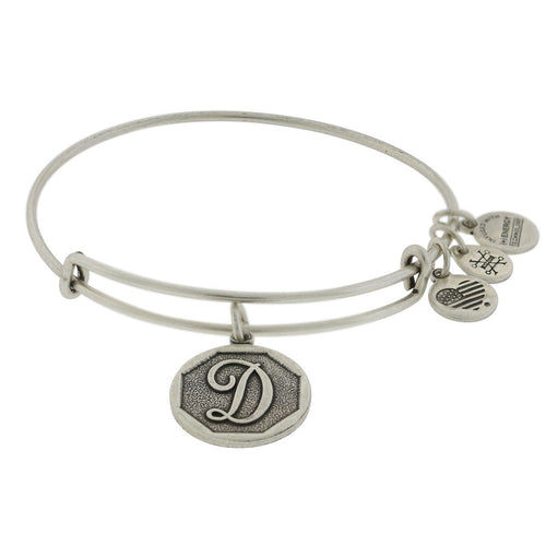 Alex and Ani Initial D Bangle Silver