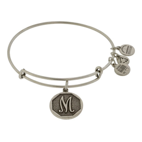 Alex and Ani Initial M Bangle Silver