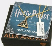 Load image into Gallery viewer, Harry Potter Deathly Hallows Necklace Rafaelian Gold