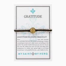 Load image into Gallery viewer, Gratitude Blessing Bracelet - Silver Medal