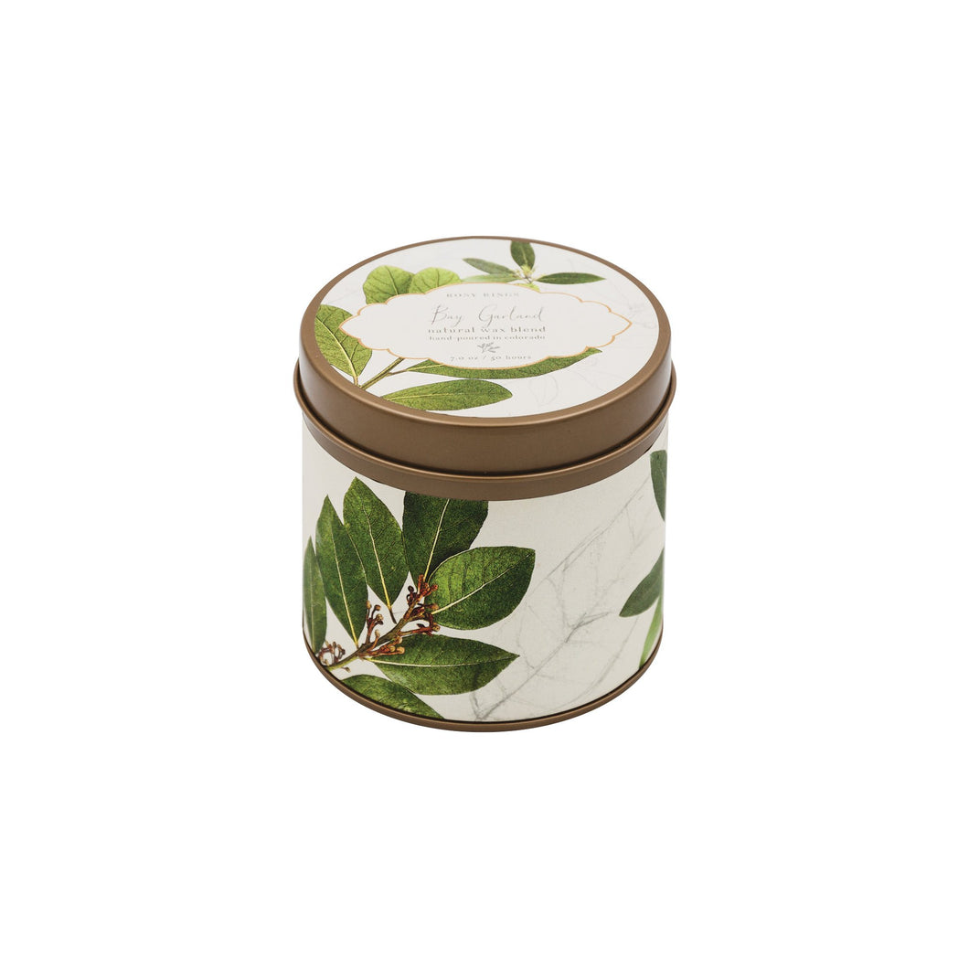 Rosy Rings - Bay Garland Signature Candle Tin