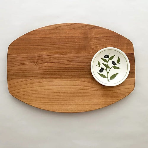 Bread & Oil Board with Olive Bowl
