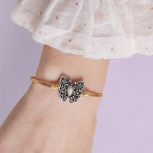 Load image into Gallery viewer, Luca+ Danni Butterfly Bangle Bracelet - Petite/Silver Tone