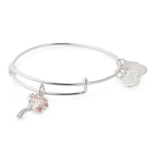 Load image into Gallery viewer, Alex and Ani Pink Tulips Charm Bangle