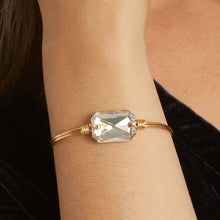 Load image into Gallery viewer, Luca+ Danni Dylan Bangle Bracelet in Silver Shade - Petite/Brass Tone