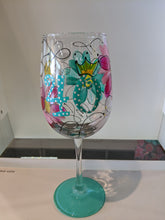 Load image into Gallery viewer, 40th Birthday Hand Painted Stemmed Wine Glass
