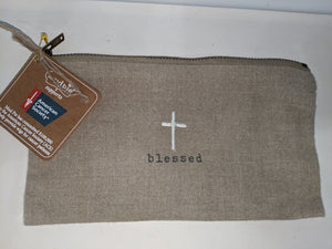 Blessed Pazitive Embroidered Pouch