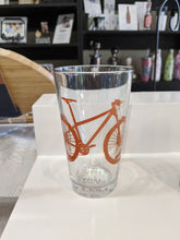 Load image into Gallery viewer, Bicycle Pint Glass - Red Clay