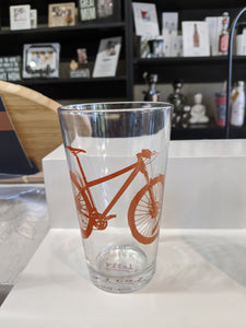 Bicycle Pint Glass - Red Clay