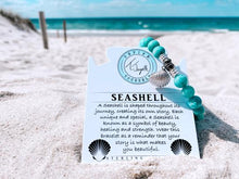 Load image into Gallery viewer, T. Jazelle Peruvian Amazonite Stone Bracelet with Seashell Sterling Silver Charm