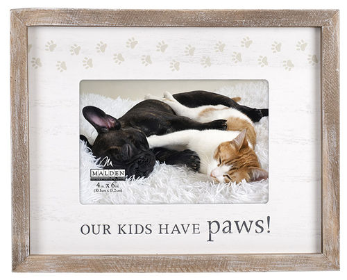 Our Kids have Paws! photo frame