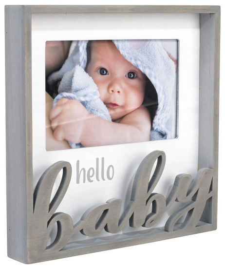 Hello Baby Laserbox Photo Frame