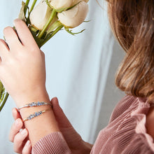 Load image into Gallery viewer, Luca+ Danni Dragonfly Medley Bangle Bracelet - Petite/Silver Tone