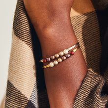 Load image into Gallery viewer, Crystal Pearl Bangle Bracelet in Fall Ombre