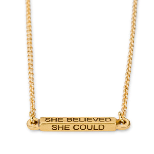 Luca + Danni She Believed She Could So She Did Necklace- 18K Gold Plated
