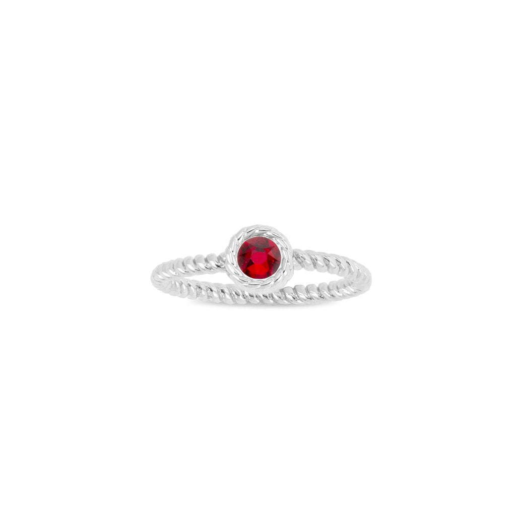 Luca + Danni January Birthstone Ring - Silver