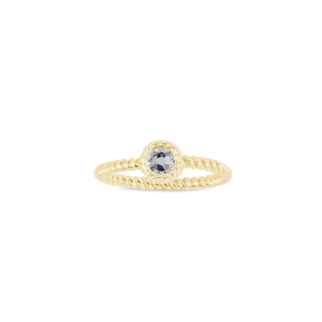 Luca + Danni April Birthstone Ring - 18kt Gold Plated