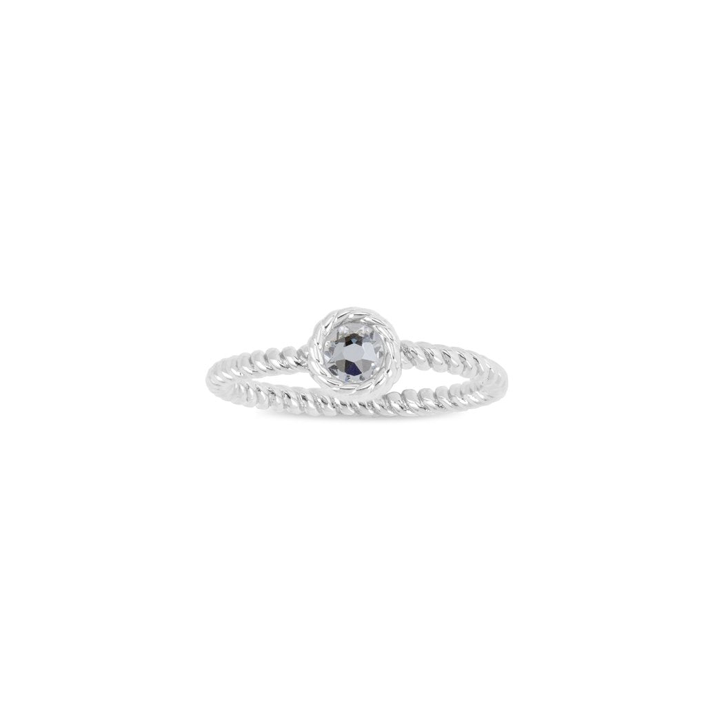 Luca + Danni April Birthstone Ring - Silver