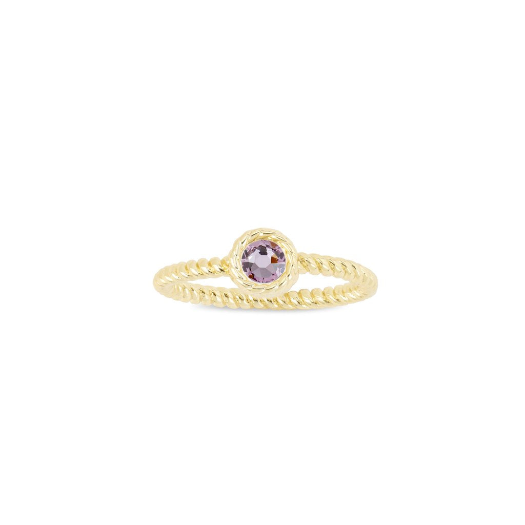 Luca + Danni June Birthstone Ring - 18kt Gold Plated