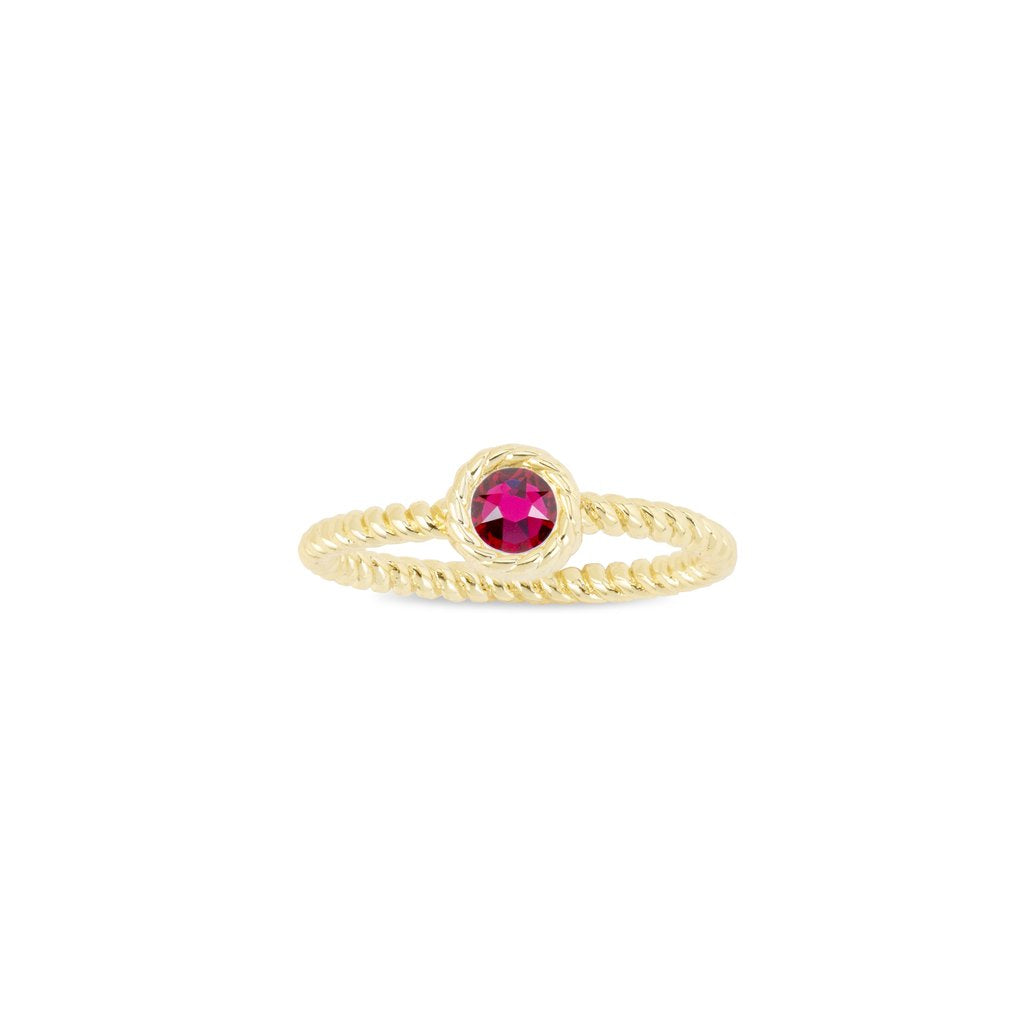Luca + Danni July Birthstone Ring - 18kt Gold Plated