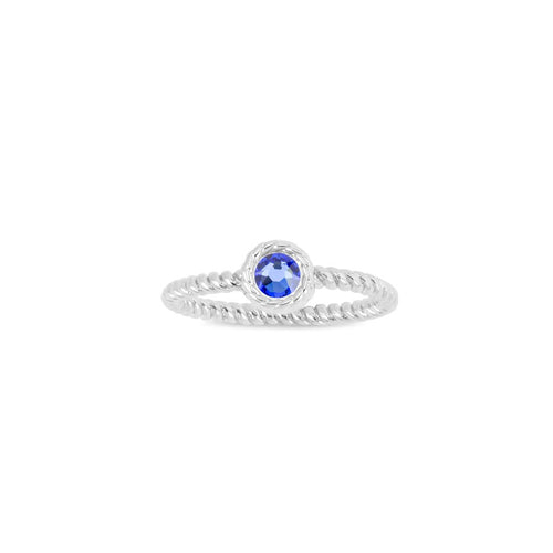 Luca + Danni September Birthstone Ring - Silver