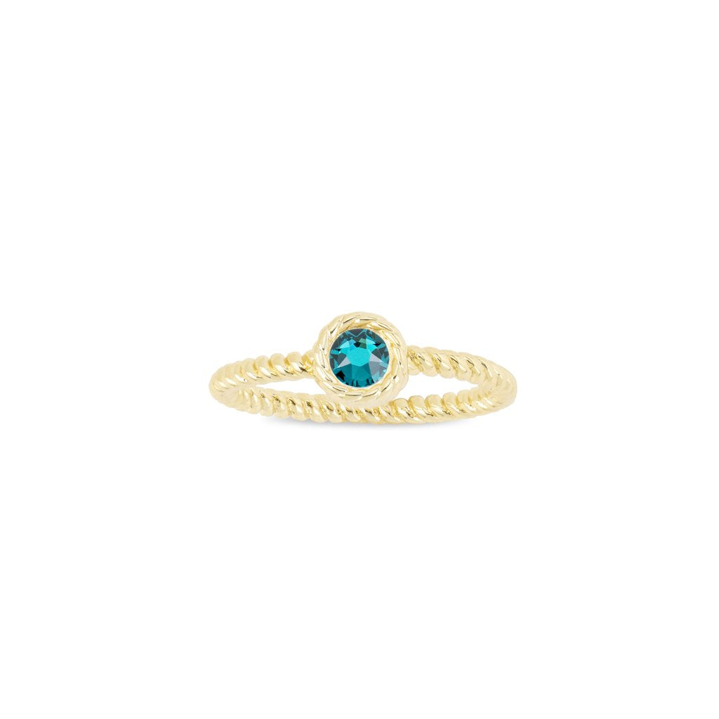 Luca + Danni December Birthstone Ring - 18kt Gold Plated