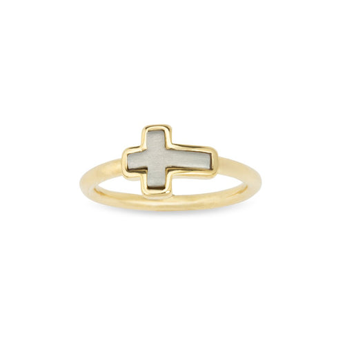 Luca + Danni Cross Ring - 18kt Gold Plated