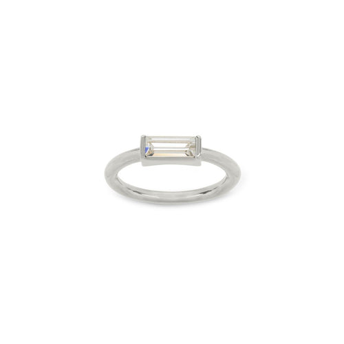 Luca + Danni Mini Hudson Crystal Ring - Silver