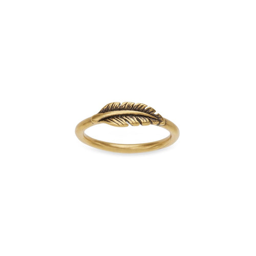 Luca + Danni Feather Ring - 18kt Gold Plated