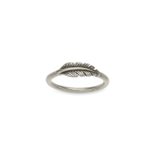Luca + Danni Feather Ring - Silver