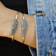 Load image into Gallery viewer, Luca+ Danni Angel Wing bracelet - Petite/Silver Tone