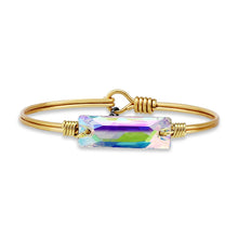 Load image into Gallery viewer, Luca+ Danni Hudson Bangle Bracelet In Crystal AB - Petite/Brass Tone